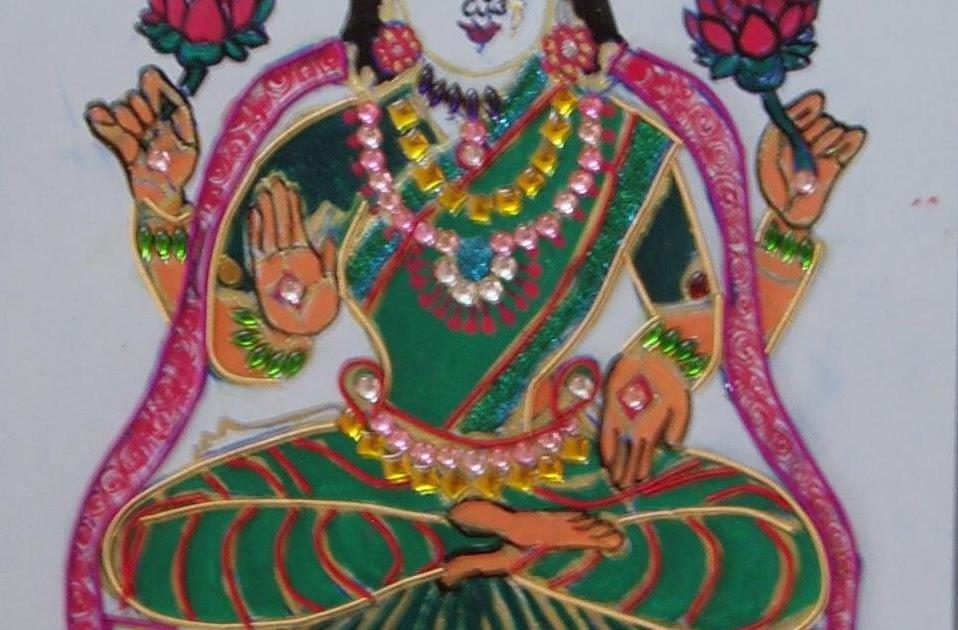 Easy Crafts Explore Your Creativity Zardosi Painting Goddess Mahalaxmi