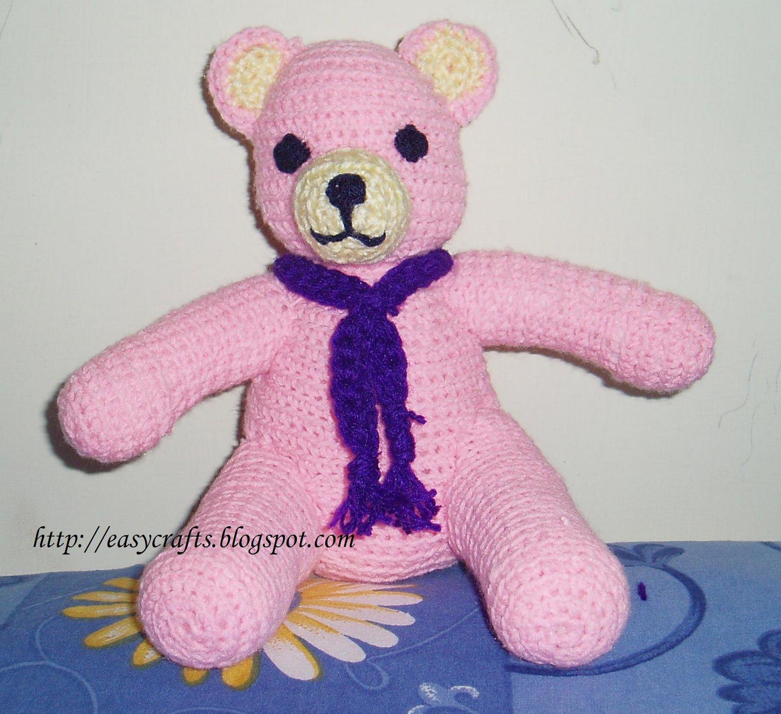 Easy Crafts - Explore your creativity: Crochet Teddy bear