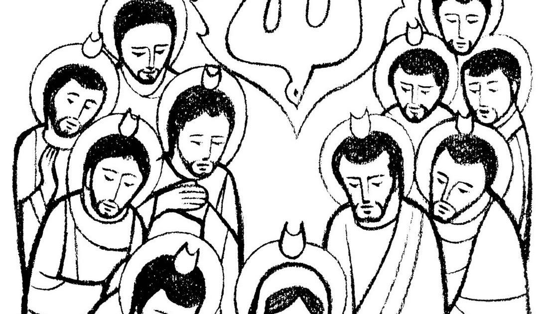 Dibujos Clase De Religion: Clases De Religión Católica: Dibujo Para Pentecostes