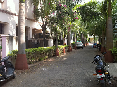 Pune India Kumar City residential lane