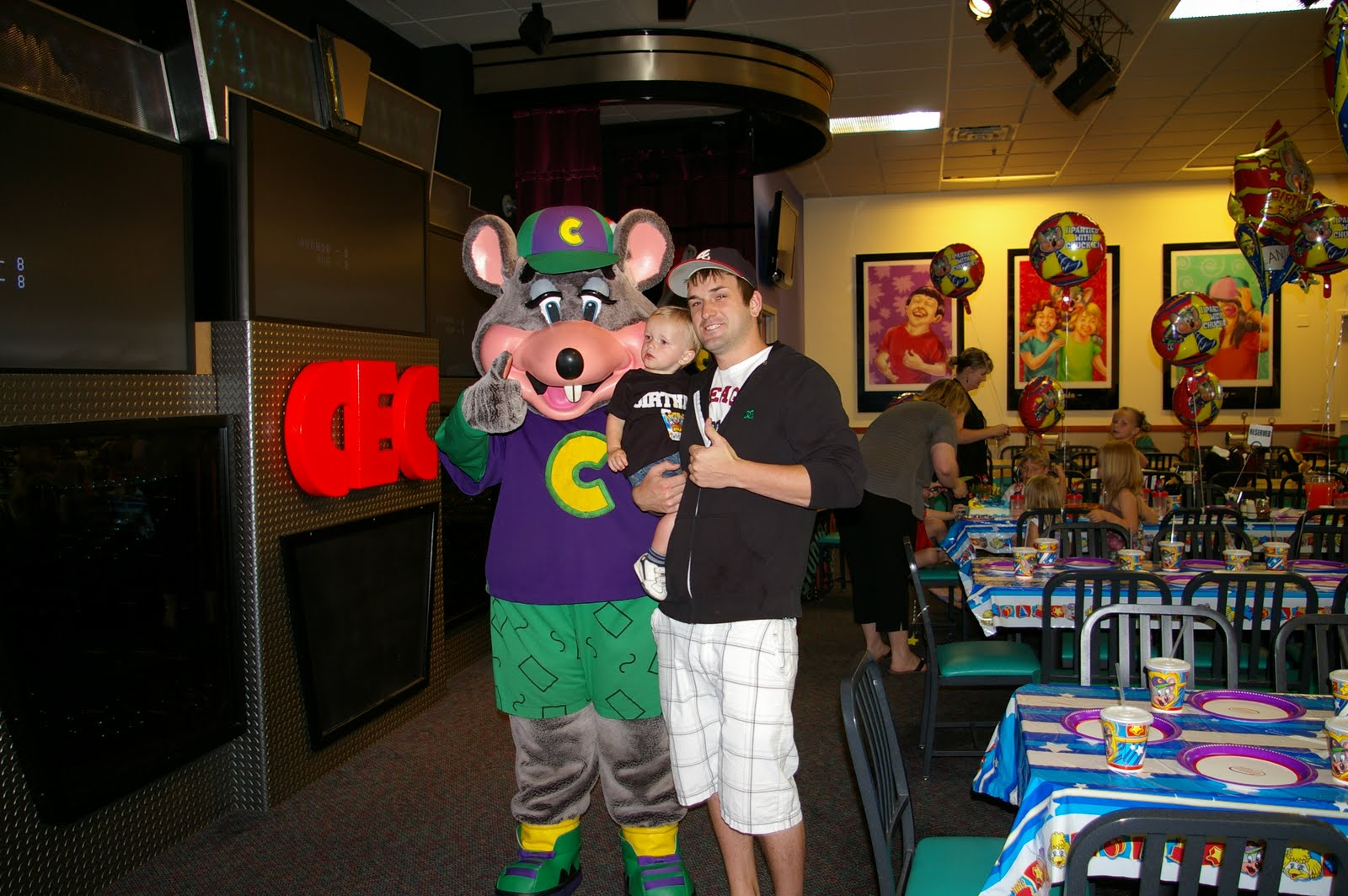 the daniels a birthday with chucky cheese