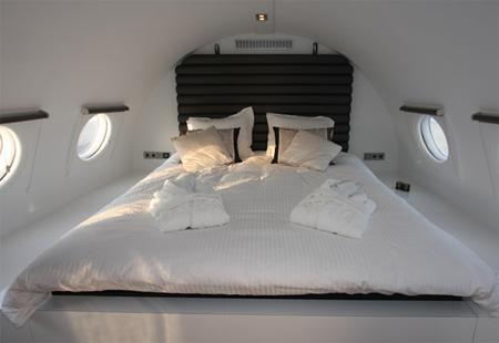 Avião hotel na Holanda