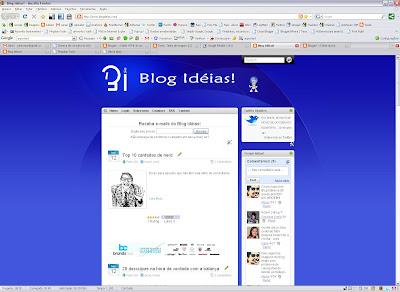 Layout antigo do Blog Idéias