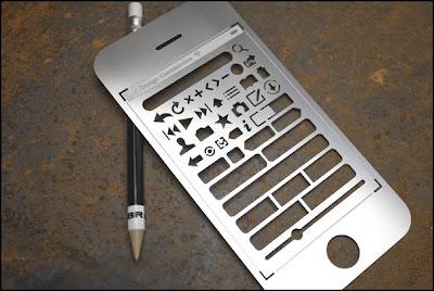 Regua de design do IPhone