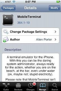 MobileTerminal2 - Tutoriel : comment Installer un fichier .deb ?