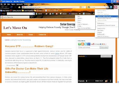 Create Webpage Screenshot