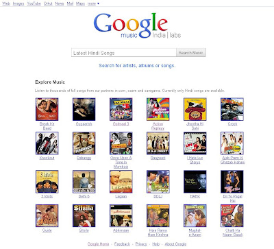 Google India Launched Music Search Engine