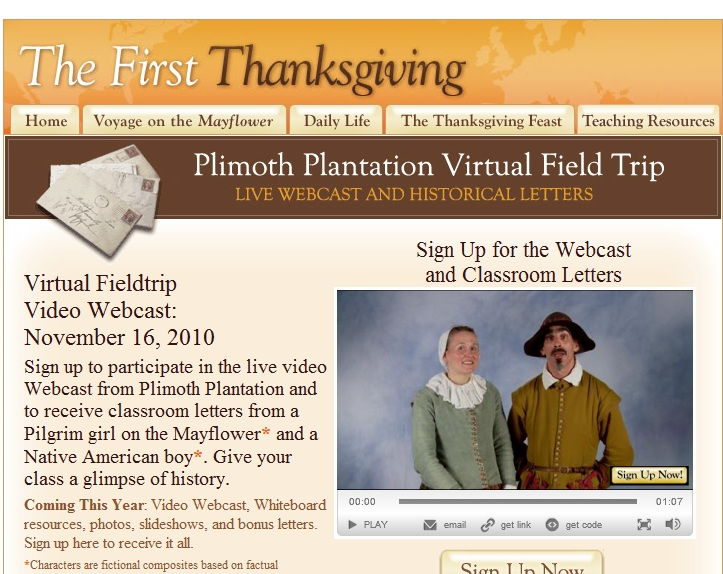 Sign Up Now for Webcast from Plymouth Plantation