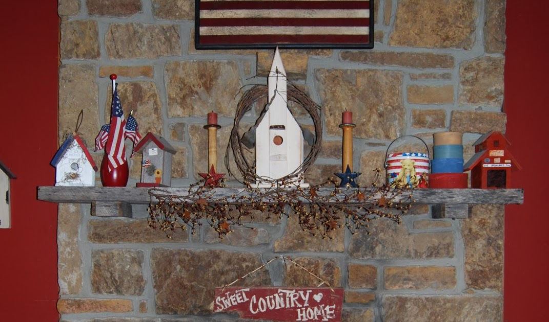 Country Girl at Home: A Little Summer Fireplace Decor
