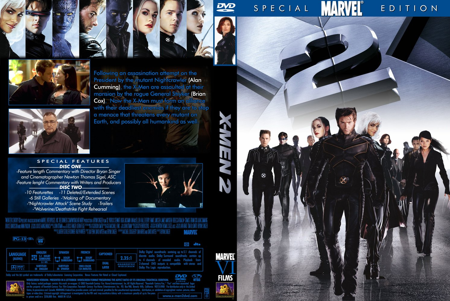 X Men Dvd Cover: X2 United Or X-Men 2 Movie From W3 By Trivto On DeviantArt