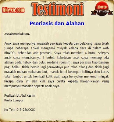 TESTIMONI : PSORIASIS DAN ALAHAN