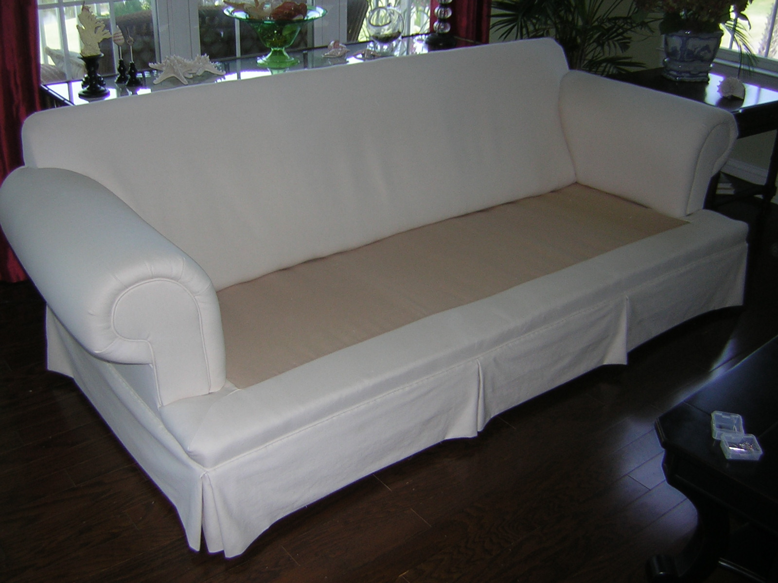 Slipcover Chic New Life For A Tired Sofa