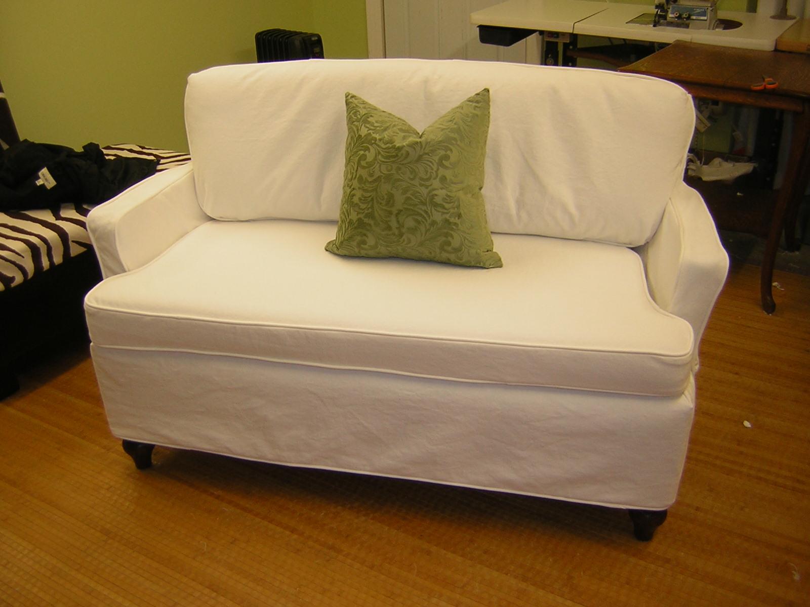 Slipcover Chic Redo of a Grandmothers Petite Sofa