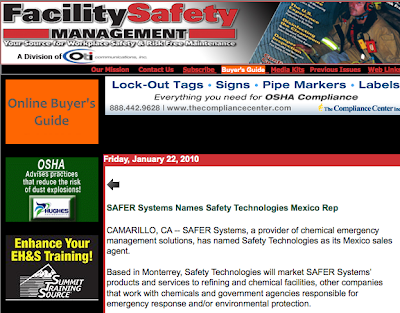 SAFER Systems Mexico Sales Agent Release Garners Extensive