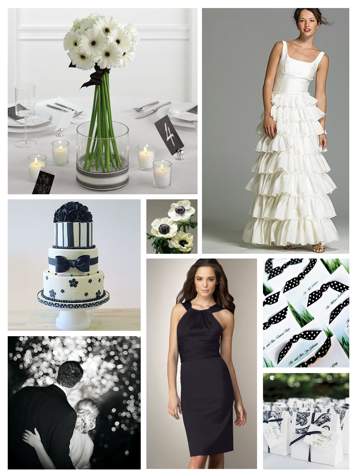 Your Wedding Support: GET THE LOOK - Black & White Wedding
