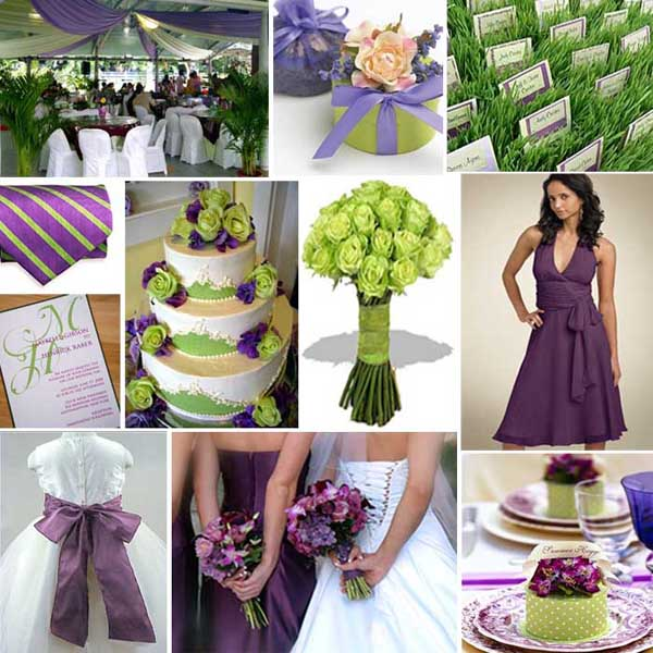 Green Wedding Ideas: Bridal Glamour Weddings: Choosing Your Wedding Colours