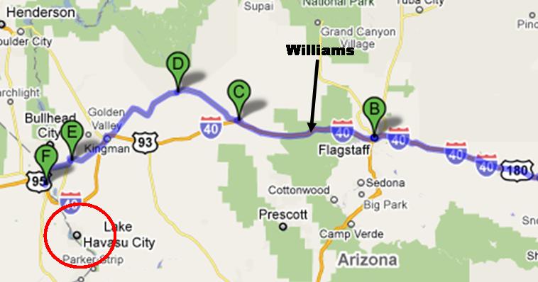 Arizona Map Az Oatman