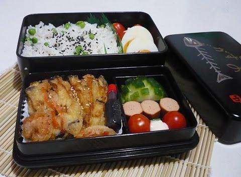 bento lunch blog bento 10 gem se tempura mit erbsenreis. Black Bedroom Furniture Sets. Home Design Ideas