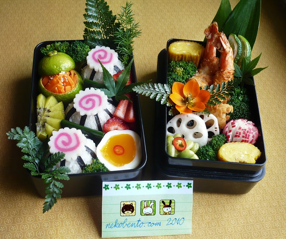 bento lunch blog bento 64 1 platz bento wettbewerb 2010 nekobento osechi style. Black Bedroom Furniture Sets. Home Design Ideas