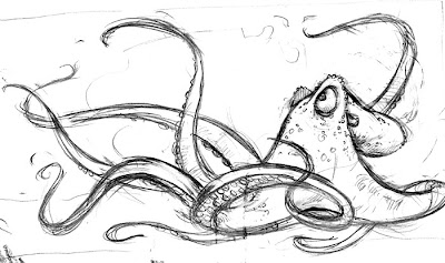 angry octopus drawing - photo #18