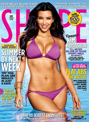 ded96d3781c48 Nothing is TMI for Kim Kardashian who graces the cover of the June issue of SHAPE  Magazine. Just another ploy to make you hate your body.