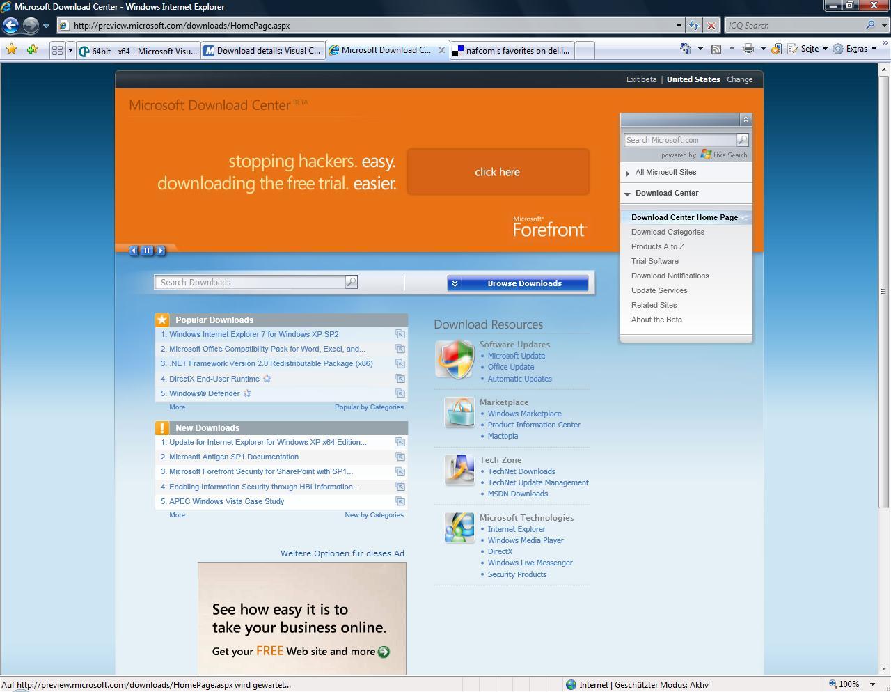 microsoft download center beta preview nafcom s personal site