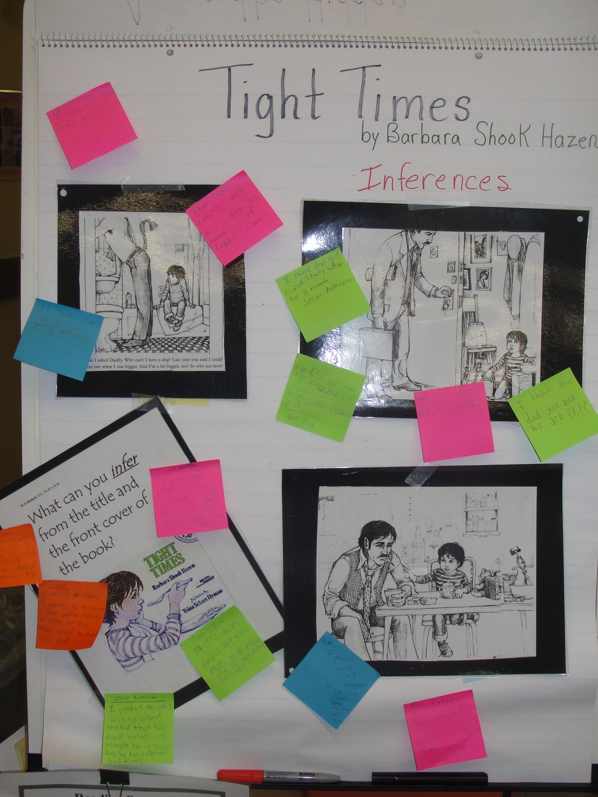 Reading Is Thinking Tight Times Inferencing Lesson