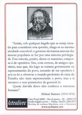 Programa da Sociedade Revolucionar | Mikhail Bakúnin