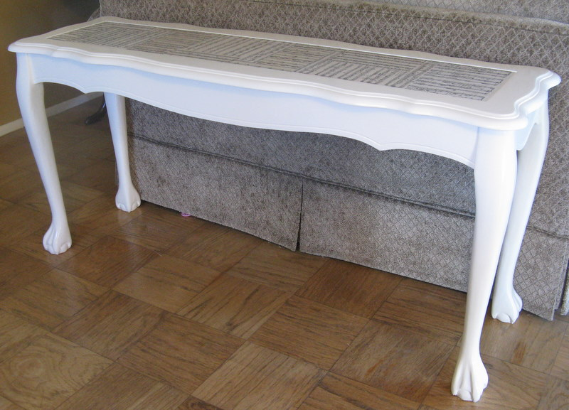white sofa table. I Painted The Table Heirloom White By Rustoleum. Really Love This Color, It\u0027s Such A Beautiful Creamy White!! Used Some Polycrylic On Top Of Paint Sofa P