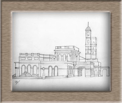 Graphite pencil sketch university of pune