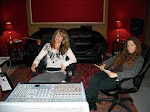 Gigi and Kate in the studio