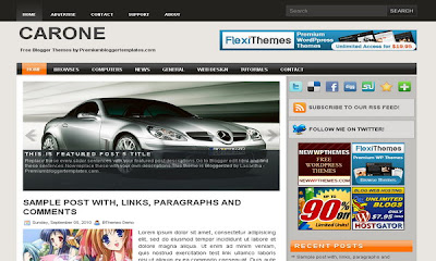 free+Car One+blogger+template