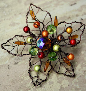Wire Leaf Brooch By Cornish Dragon