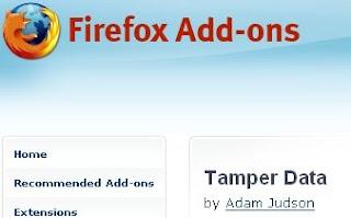 Tamperdata firefox addon to modify http headers
