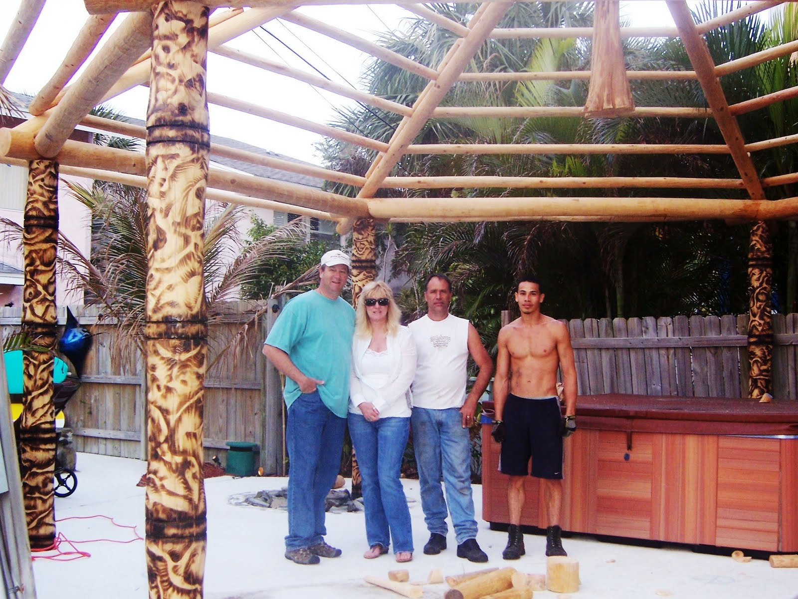 Kahuna Tiki Huts Made Time In Their Busy Schedule To Build A