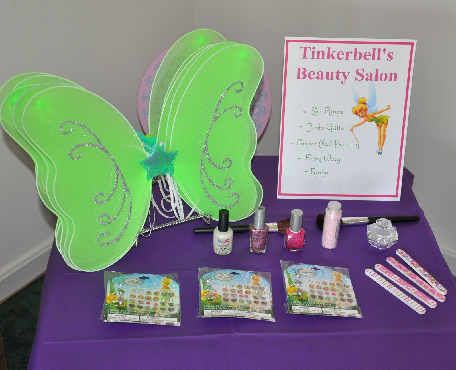 tinkerbell themed birthday party