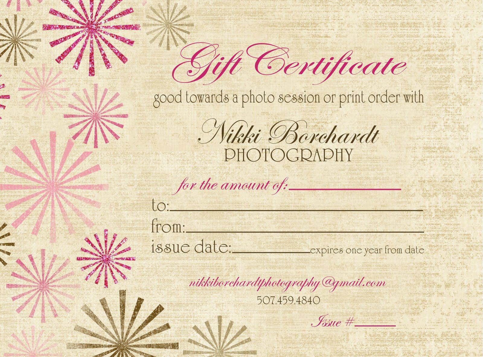 Photography Gift Certificate Ideas Eskayalitim