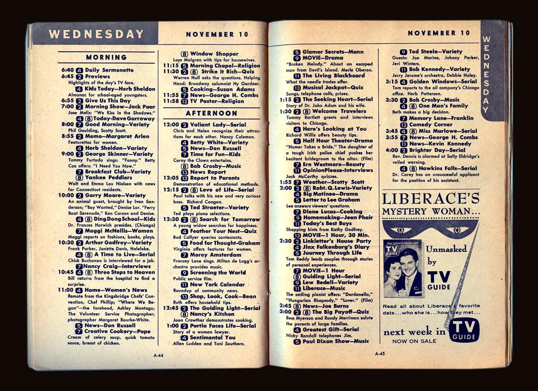 caseyartandcolour What39s On TV In November 1954