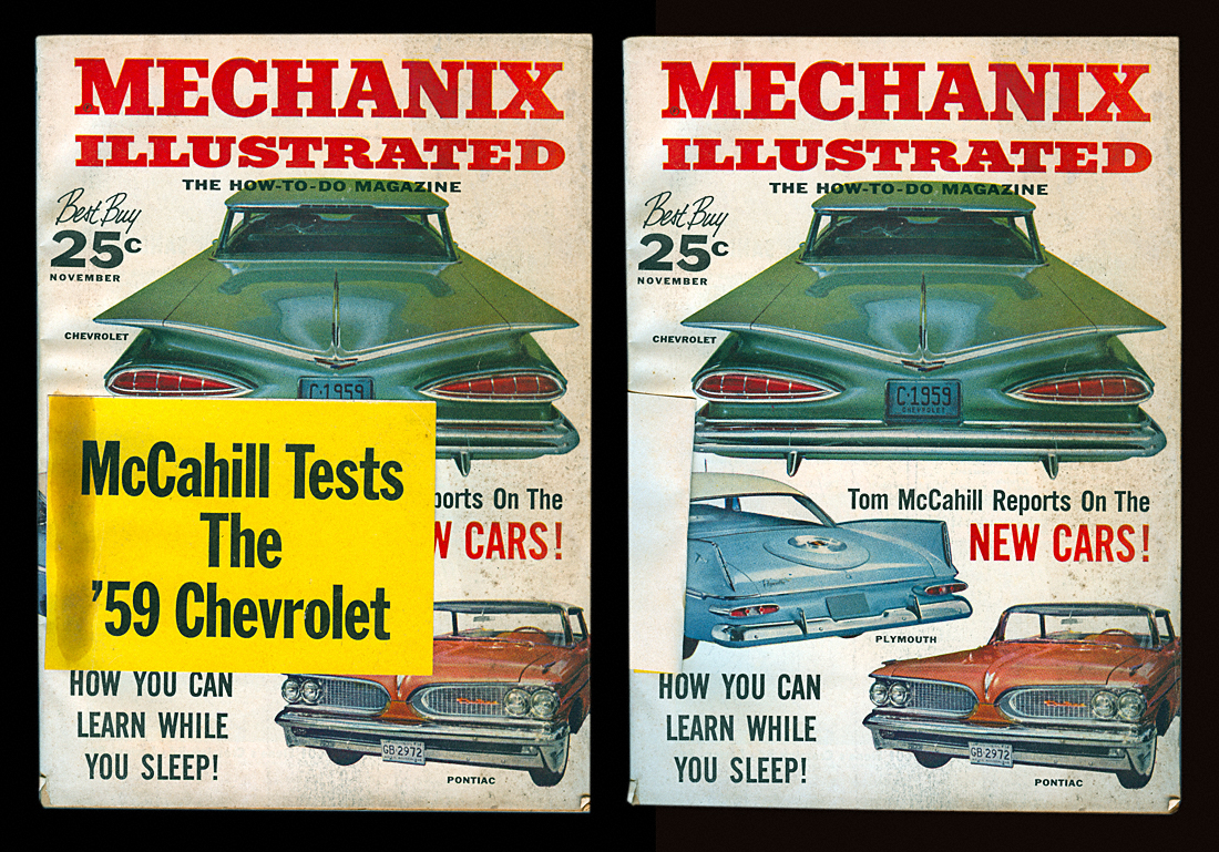 Casey Artandcolour November 2010 Trunk Locks Wiring Diagram Of 1958 Ford Edsel And 59 Lincoln The Issue Mechanix Illustrated Previewed New Cars Their Famous Father Road Test Tom Mccahill Tested Batwing