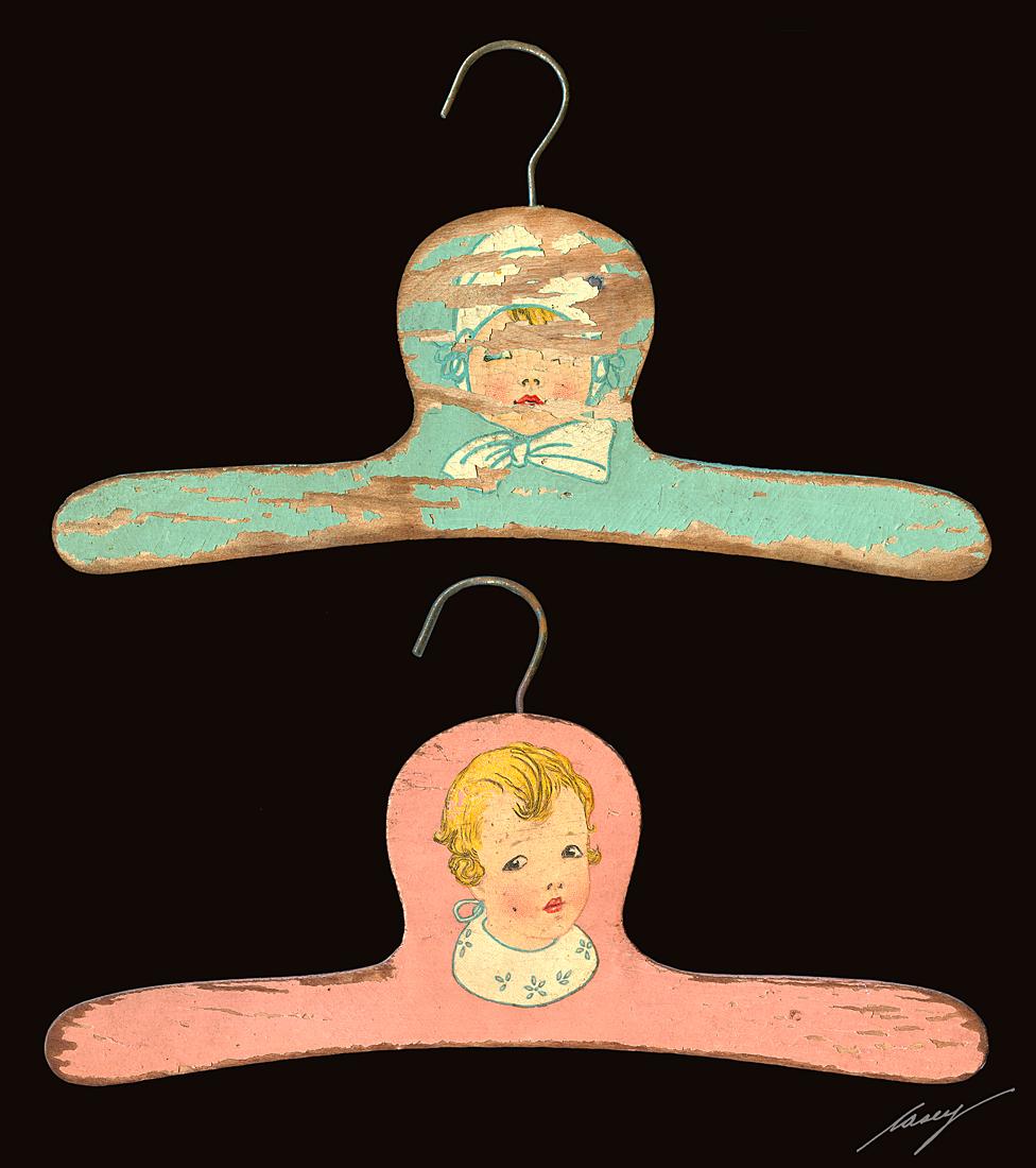 "casey/artandcolour: ""No Wire Coat Hangers!"""