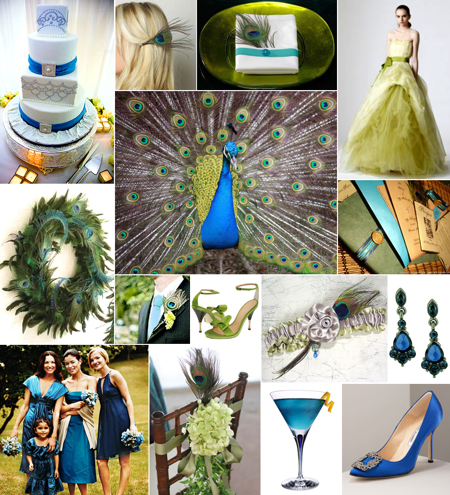 Wedding Themes And Colors: To Have And To Hold.: Peacock Wedding Theme