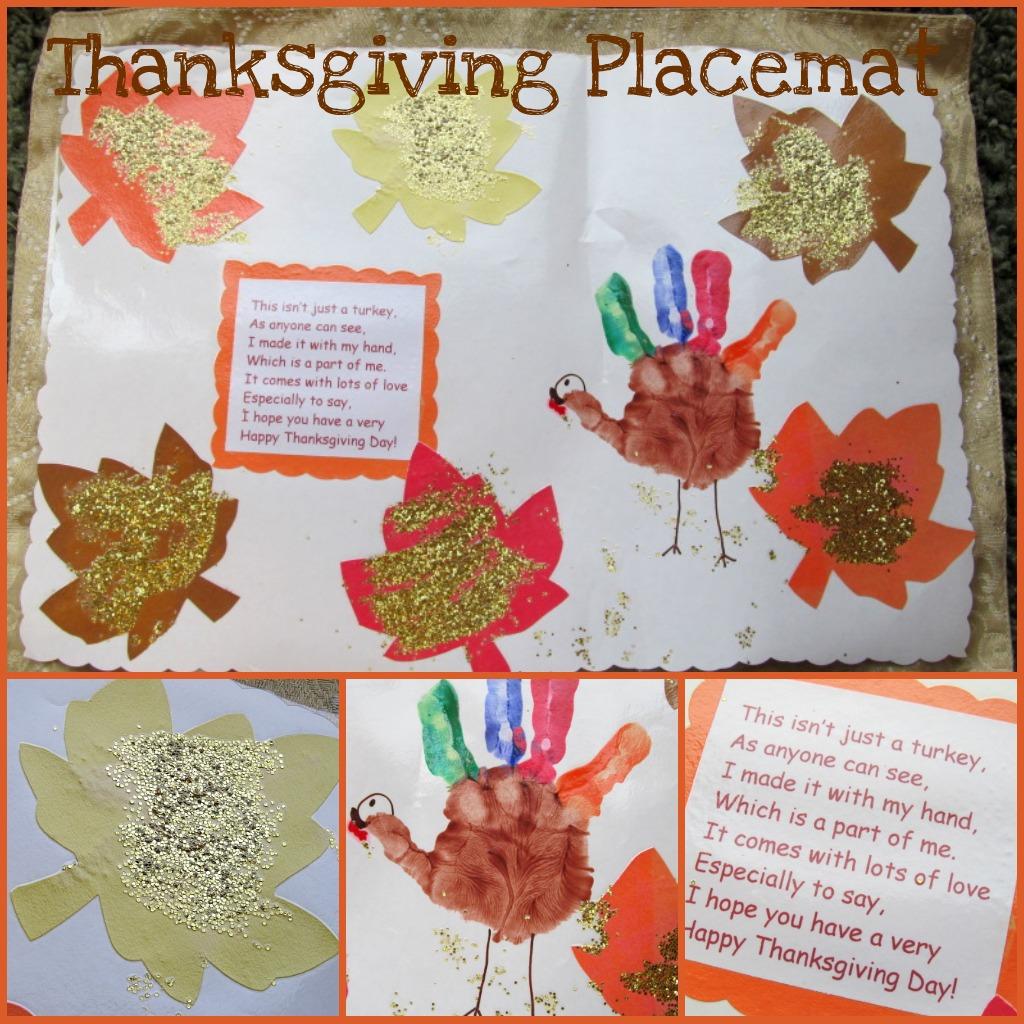 Turkey Hand Print Placemat