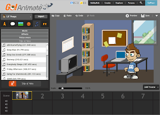 Screenshot GoAnimate Music library