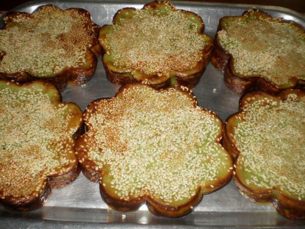Rohaya Bakery: KUIH BAKAR BIJAN PANDAN