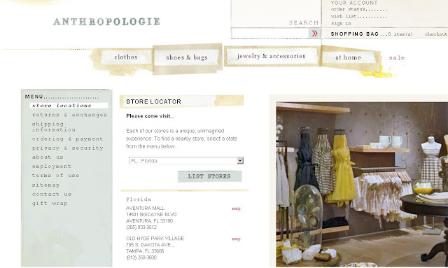 anthropologie warehouse locations information about anthropologie outlet amp location 10048
