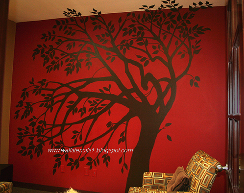 Wall Stencils,Flower wall stencils: Wall Art Stencils