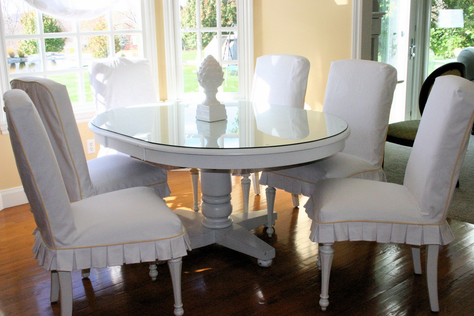 slipcovers painted white kitchen table white distressed kitchen table Slipcovers a Painted White Kitchen Table
