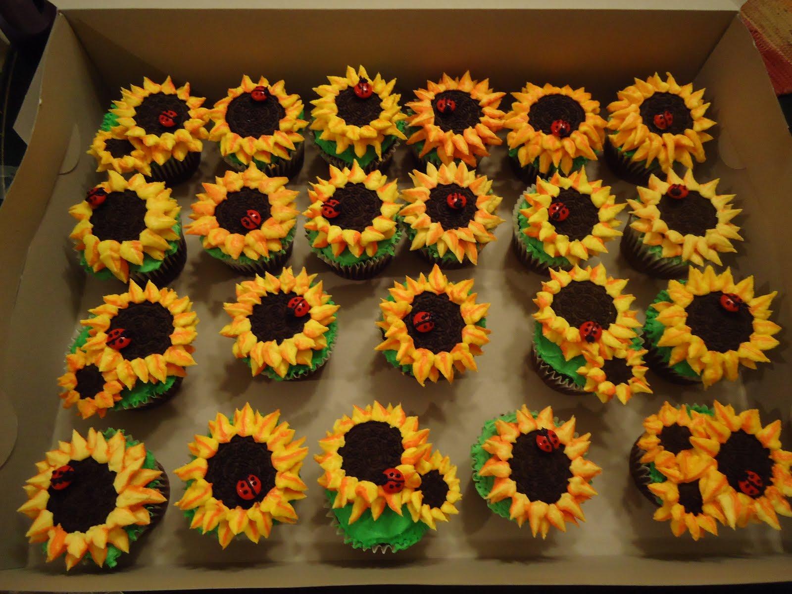 Cat S Cake Creations Sunflower Cupcakes
