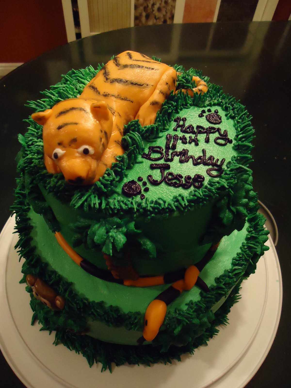 Cat's Cake Creations: Jungle Birthday Cake featuring the Tiger