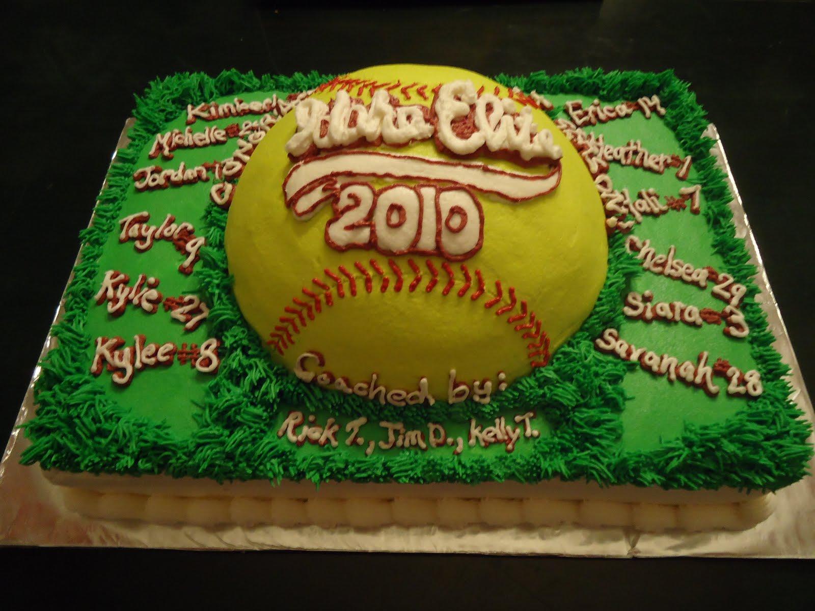 Softball Cake Ideas And Designs